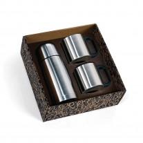 Kit squeeze e canecas em inox - KGT09