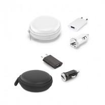 Kit carregadores USB personalizado - CRD17