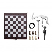 Kit vinho com jogo de xadrez - KVI30