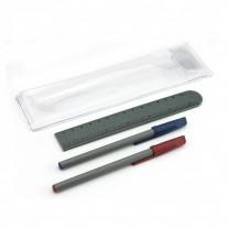 Conjunto ECO de canetas e régua - CJT04