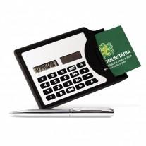 Calculadora c/ porta cartões e caneta - CAL07