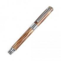 Caneta executiva em bambu e metal - CEB07