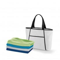 Kit sacola térmica e toalha personalizado - KUT53