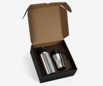 Conjunto de Squeeze e Caneca Inox Personalizado - KGT23