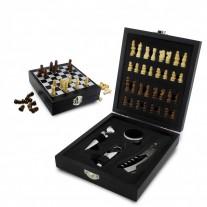 Kit vinho com jogo xadrez - KVI20