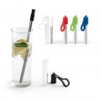 conjunto canudo e escova de limpeza personalizado - KUT49